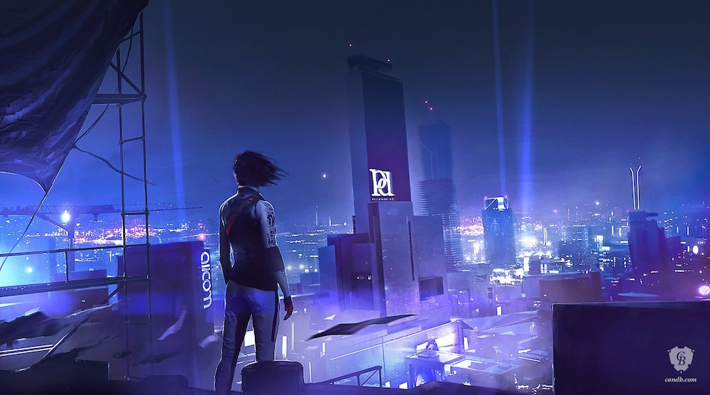 mirror's edge catalyst concept art print video game art